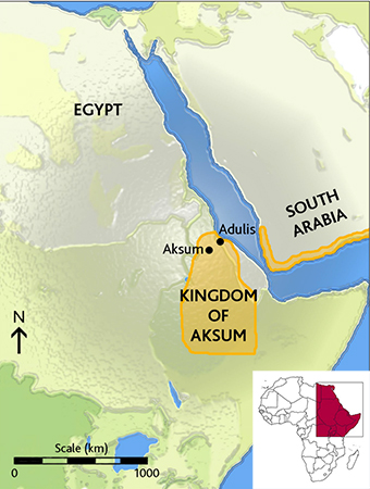 The kingdom of Aksum: One of the four greatest powers in the world
